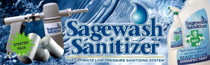 Sagewash Sanitizer gama de produtos