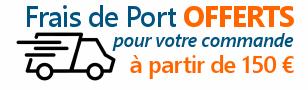 Frais de port offerts dès 150 euros de commande